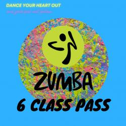 Zumba 6 Class Pass