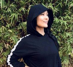 soFly Social Long Sleeve Logo Tape Crop Hoodie