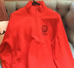Red Lotus 1/4 Zip Pullover (Red)