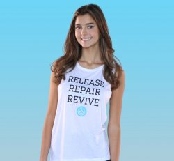 White Muscle Tank (Release~Repair~Revive)
