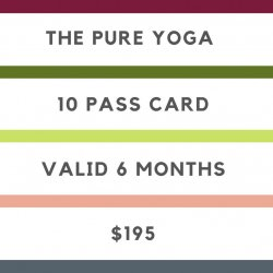 TPY - 10  CLASSES CARD - VALID 6 MONTHS