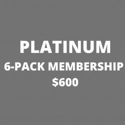 PLATINUM 6-PACK Annual Membership $600
