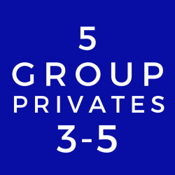 3-5  Person Group Private Lesson (5 Class Package)