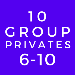 6-10 Person Group Private Lesson (10 Class Package)