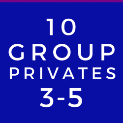 3-5 Person Group Private Lesson (10 Class Package)