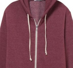 291:  Zip Hoodie - Eco True Currant (Small)
