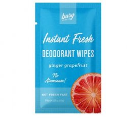 Busy Beauty - Grapefruit/Ginger Deodorant Wipes