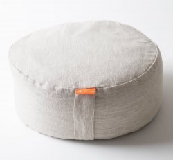 Halfmoon Mod Meditation Cushion - Limited Edition - Natural Linen