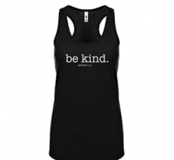 Be Kind Ideal Racerback Tank (Black)