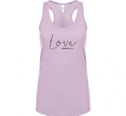 Love Ideal Racerback Tank (Lilac)