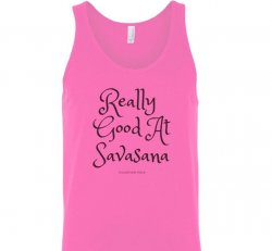 Really Good At Savasana Pink Tank