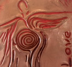 Angels Whisper-Copper Engraving-love