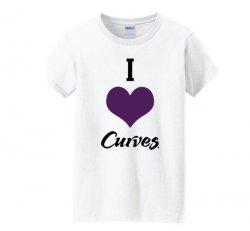 I Love Curves Next Level Tshirt-White