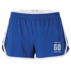 soFly Social Retro Dolphin Shorts - Blue