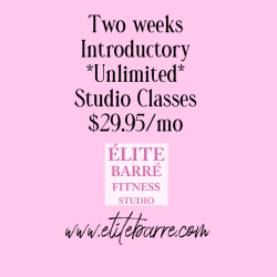 Two Week Introductory Unlimited Classes  Save $40