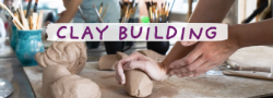 Teen Clay Hand Building Techniques- Luminaries & Coiled Planters