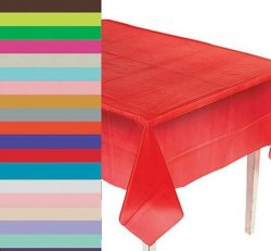 Table Cloth Party Pack (3 disposable table cloths - Cake Table and Two Picnic Tables)
