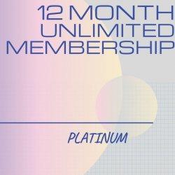 12 Month Unlimited PLATINUM Membership