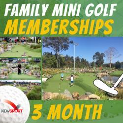 Family mini golf membership - 3 Month Pass