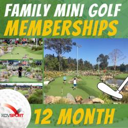 Family mini golf membership - 12 Month Pass