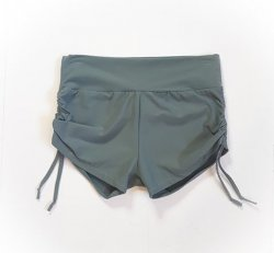 Side Tie Shorts - Charcoal Grey