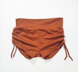 XL Side Tie Shorts - Copper
