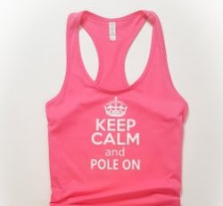Tanktop - Keep Calm and Pole On Med.
