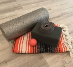 Foam Roller, Roller Ball, Block, Blanket, Strap Bundle