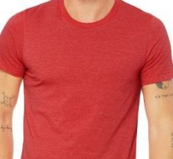 300:  Short Sleeve Heather TShirt - Red (Large)