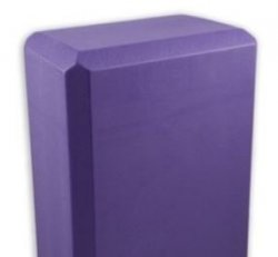 "107  Yoga Block (purple):  Studio 4""  (4"" x 6"" x 9"")"