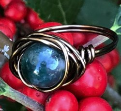 Moss Agate Ring (7.25)