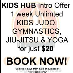 KIDS HUB Intro Offer $20 for 1 Week Unlimited