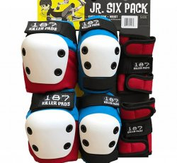 187 (Jr.) Six Pack - Red White Blue