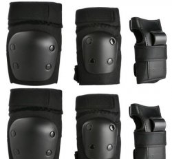 (YS) ProTec Junior 3 Pack Box Black
