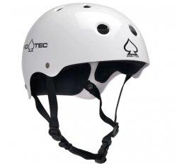 (M) ProTec Classic Gloss White Helmet