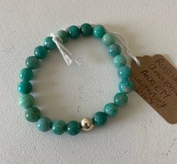 Malas By Emma - ANXIETY Russian Amazonite w/ Sterling Silver bracelet