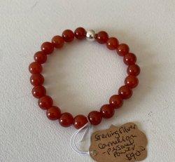 Malas By Emma - PERSONAL POWER Carnelian w/ Sterling Silver Bead bracelet