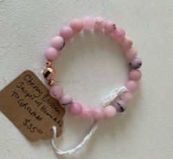 Malas By Emma - GROUNDED Cherry Blossom Jasper w/ Hematite bead bracelet