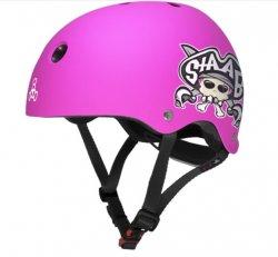 (XXS) T8 Lil 8 Staab Neon Pink Matte Helmet