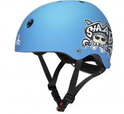 (XXS) T8 Lil 8 Staab Neon Blue Matte Helmet