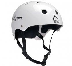 (L) ProTec Classic Gloss White Helmet