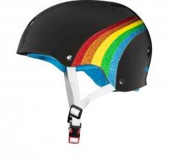 (S/M) T8 Certified Sweat Saver BLK/Rainbow Sparkle Helmet