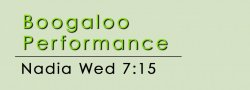 Boogaloo PERFORMANCE CLASS - Wed @ 7:15 on ZOOM