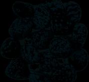 CRYSTALS Snowflake Obsidian