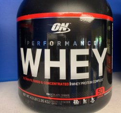 ON Performance Whey - Chocolate Shake 4.3lb