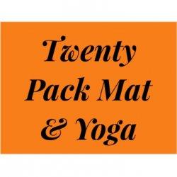 20 Pack of Classes Barre, Mat & Yoga