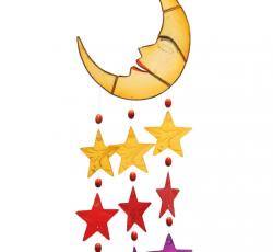 Wind Chime - Moon and Stars Capiz  Wind Chime