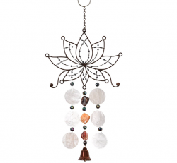 Wind Chime - Lotus Antique Single Wire Chime