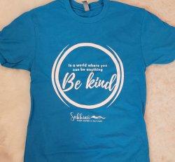 Be Kind T-Shirt - Bright Tahiti Blue (XXL only)