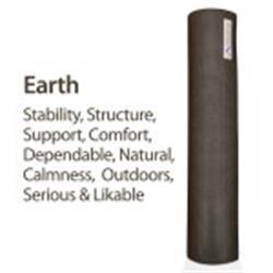 "Aurorae Yoga Mat, 72""x24""x1/4"" (assorted colors) (Earth)"